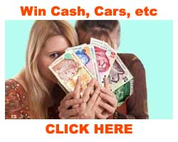 Win cash, cars, holidays